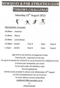 Newquay & Par Thows Challenge 15.08.2015