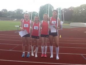 SW Schools Combined Events - Isobel Pinsky (vest 16) 3rd and Oliva Dobson (vest14) 4th in JG Pentathlon