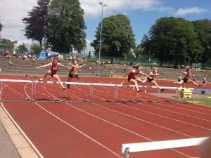 SW Schools Combined Events - Jessica Dobson (far right) SG 100m Hurdles