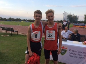 ESAA Combined Events; Sam Gooding (no 8) Jack Turner (no33)