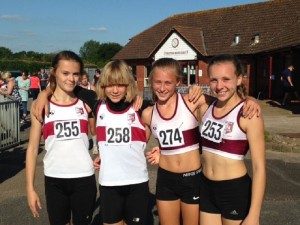 Exeter Harriers SWAL U13G Relay Team