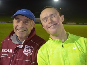 Exeter Harriers - Mark Palmer with Coach Brian Hare