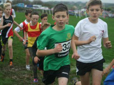 Harrison Stone (in white) U11 Boys race