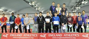 U20m Heptathlon Indoor Champs Sheffield - Sam Talbot top row centre