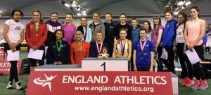 U20women Indoor Champs - Anya Turner 2nd left