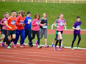 Caitlin Apps running with Mo Farah - Two Mo Miles web