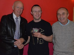 Mark Palmer receiving Individual Performance Award from George Eccles (club president) and Brian O'Hare (coach) web