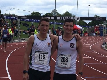 Rob Mann pictured with Exeter Uni Team Mate Joachim Tranvag
