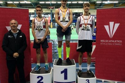 HARRIERS CHAMPION IN SPRINTS, THROWS AND JUMPS AT CARDIFF