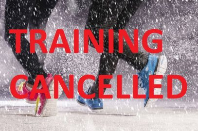 TRAINING CANCELLED 31ST JANUARY