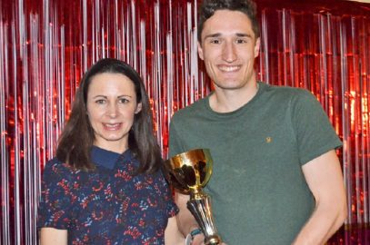 JO PAVEY PRESENTS EXETER HARRIERS 2017 AWARDS TO PACKED CLUBHOUSE