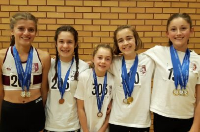 COUNTY SPORTSHALL CHAMPS YIELDS 6 GOLDS FOR HARRIERS